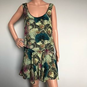 Free People Green Printed Dress